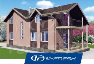 M-fresh California (Посмотрите проект уютного дома с террасой! ). 100-200 кв. м., 2 этажа, 5 комнат, каркас