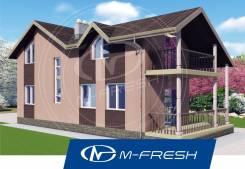 M-fresh California (Проект Г-образного дома! ). 100-200 кв. м., 2 этажа, 5 комнат, бетон