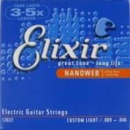 Elixir 12027 Anti Rust NanoWeb Custom Light струны электрогитары 9-46