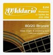 D'Addario EJ14 Бронза Bluegrass 12-56 Струны для акустической гитары