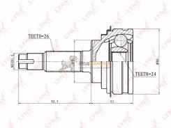 Шрусы наружние LYNXauto / CO-7508, левый