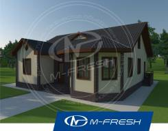 M-fresh Organic (Посмотрите проект интересного 1-этажного дома! ). 100-200 кв. м., 1 этаж, 4 комнаты, дерево