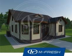 M-fresh Organic-зеркальный (Проект одноэтажного дома с эркером! ). 100-200 кв. м., 1 этаж, 4 комнаты, дерево