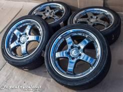 Weds Farmas 7JxR17 PCD 5x114,3 ЕТ53 / Bridgestone Yokohama 215/45R17. 7.0x17 5x114.30 ЦО 72,6мм.