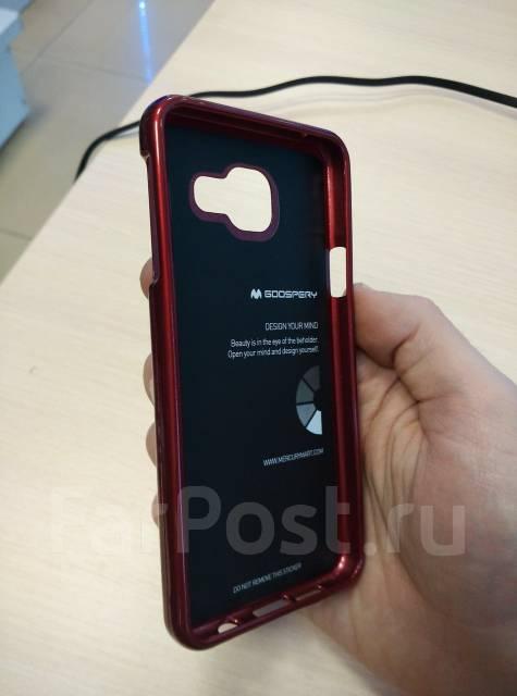 Силиконовый чехол Mercury Goospery для Samsung Galaxy A3 2016 Бордовый