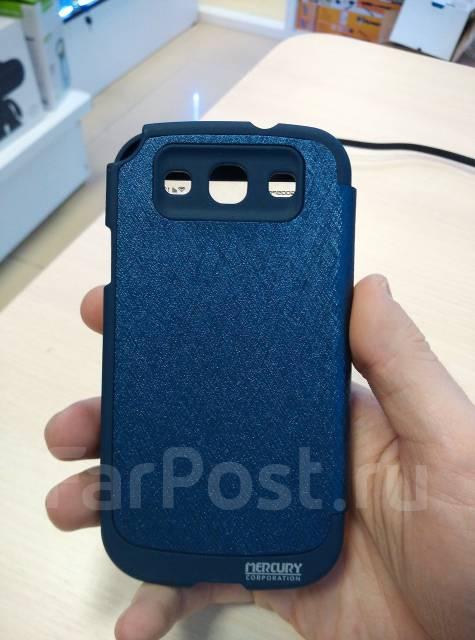 Кожаный чехол-книга Mercury Goospery для Samsung Galaxy S3 Синий