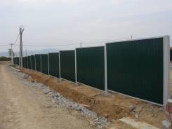 """Забор """"Эконом 2 м. из проф листа от 1800 руб. за один метр с мат."""