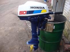 Honda. 5,00л.с., 4х тактный, бензин, нога S (381 мм), Год: 1996 год