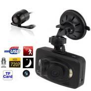 Панорамный видеорегистратор 3 камеры, HD 720P, 260+130 градусов