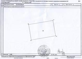 Земельный участок в Надеждинском районе. 1 000 кв.м., собственность, от частного лица (собственник). Схема участка