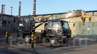 Isuzu Forward. Автокран 5 тонн 21,5 метр, 7 100 куб. см., 5 000 кг., 21 м.