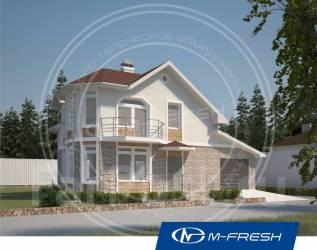 M-fresh Window Magic (Проект компактного дома! Посмотрите!. 100-200 кв. м., 2 этажа, 5 комнат, бетон
