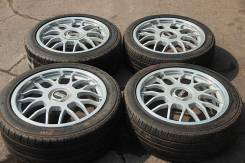 Комплект дисков BBS R17 7+33/8+38, MADE in Japan, Forged + ШИНЫ. 7.0/8.0x17 5x114.30 ET33/38