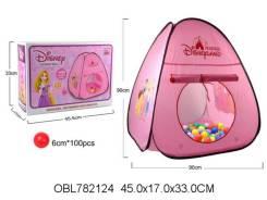 """Палатка детская """"Принцессы"""" + шары, 90*90 см,кор."""