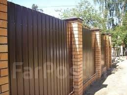 Строительство заборов, ворот, калиток, фундаментов подпорных стен.