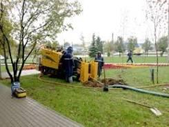 Водопровод, канализация, газопровод.