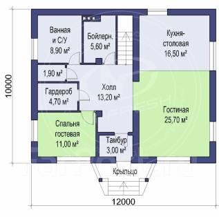 M-fresh Paradise plus (Покупайте сейчас проект со скидкой 20%! ). 200-300 кв. м., 2 этажа, 5 комнат, бетон