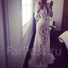 Шикарный свадебный халатик для фотосессии