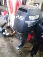 Yamaha. 25,00л.с., 4х тактный, бензин, нога L (508 мм), Год: 2007 год