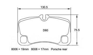 Колодка тормозная. Porsche 911 Porsche Carrera