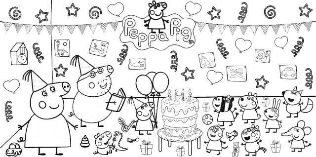 Раскраска для детей Свинка Пеппа - Игрушки во Владивостоке