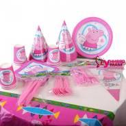 Посуда для детского праздника набор на 10 персон Свинка Пеппа. Под заказ