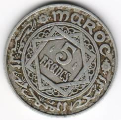 Нечастая! 5 Франков 1951 год Марокко (AL) 06