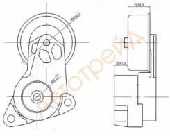 Натяжитель приводного ремня SAT ST-1345A009