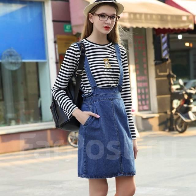 3eb5e7cdef5 Джинсовая юбка с лямками. Возможен обмен - Основная одежда во ...