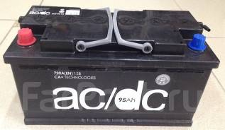 Аккумулятор AC/DC 90 Ач, 720А (скидка 1000р. за старый АКБ). 90А.ч., Прямая (правое), производство Россия