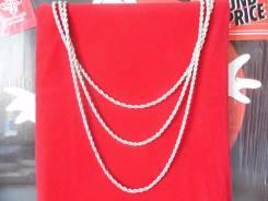 Ярусное многослойное ожерелье из цепочек-верёвок