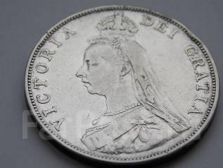 Великобритания двойной флорин 1889 Виктория Серебро