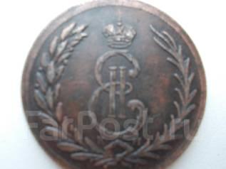 Монета сибирская 5 копеек 1763 года
