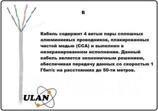Сетевой интернет компьютерный LAN кабель витая пара FTP UTP cat5e