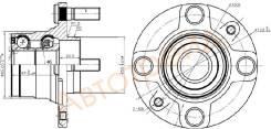Ступица RR MAZDA DEMIO DW3W 96-02 4 шпильки (без ABS) SAT ST-NA01-33-04X