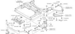 Втулка стабилизатора. Nissan Cima, HGY51 Nissan Fuga Hybrid, HY51 Nissan Fuga, HY51, Y51 Двигатели: VQ35HR, VQ25HR, VQ37VHR