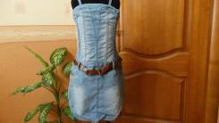 Сарафаны джинсовые. Рост: 128-134, 134-140, 140-146, 146-152 см