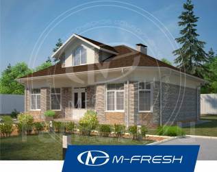 M-fresh Harmony-зеркальный (Готовый проект каменного дома). 300-400 кв. м., 1 этаж, 4 комнаты, бетон