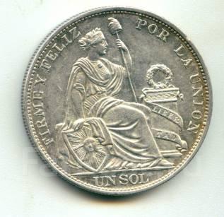 Перу 1 сол 1895 Серебро