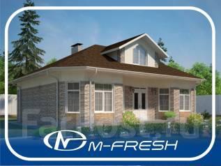 M-fresh Harmony (Проект 1-этажного дома с жилой мансардой! ). 300-400 кв. м., 1 этаж, 4 комнаты, бетон