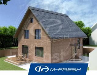 M-fresh Anderson-зеркальный (Посмотрите проект дома с мансардой! ). 100-200 кв. м., 1 этаж, 3 комнаты, кирпич