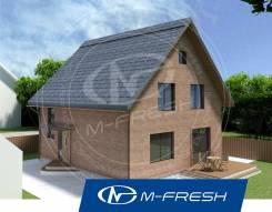 M-fresh Anderson (Готовый проект компактного дома с мансардой). 100-200 кв. м., 1 этаж, 3 комнаты, кирпич