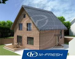 M-fresh Anderson-зеркальный (Строительный проект дома из газоблока). 100-200 кв. м., 1 этаж, 3 комнаты, кирпич