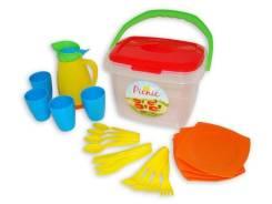 """Набор детской посуды """"Алиса"""" для пикника №2 в пласт контейнере"""