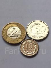Лот из 3 монет Польша