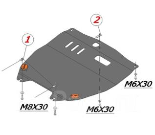 Защита двигателя железная. Suzuki Swift, ZC72S, ZC32S
