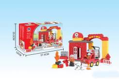 Конструктор 33 дет. Пожарная станция, кор.