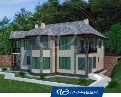 M-fresh Art-Galaxy (В доме встроенный гараж под углом). 200-300 кв. м., 2 этажа, 5 комнат, бетон
