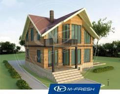 M-fresh Country (Готовый проект деревянного дома для Вас! ). 200-300 кв. м., 1 этаж, 5 комнат, дерево
