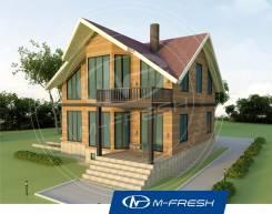 M-fresh Country-зеркальный (Проект дома из бруса для Вашей семьи! ). 200-300 кв. м., 1 этаж, 5 комнат, дерево